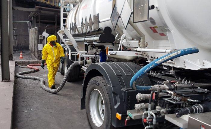 Transfert et transport de produits chimiques